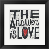 Framed Answer is Love Grunge Square