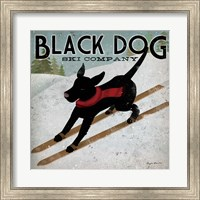 Framed Black Dog Ski Co.