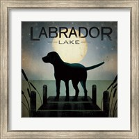 Framed Moonrise Black Dog