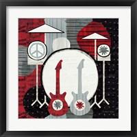Framed Rock 'n Roll Drums