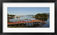 Framed Dock and harbor, Tofino, Vancouver Island, British Columbia