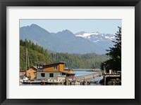 Framed British Columbia, Vancouver Island, Tofino, Floating houses