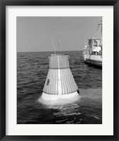 Framed Model of the Mercury Capsule undergoes Floatation Tests