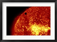 Framed 2012 Transit of Venus and the Sun