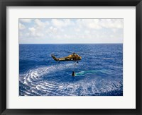 Framed Astronaut is Rescued by a US Marine Helicopter
