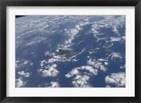 Framed Hawaiian Islands as seen from the International Space Station