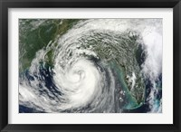 Framed Hurricane Isaac in the Gulf of Mexico