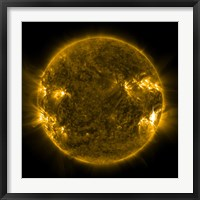 Framed Solar Activity on the Sun