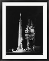 Framed Mercury-Redstone 3 Missile on Launch Pad, Cape Canaveral, Florida