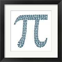 Framed Pi (First 100 Digits)