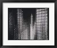 Framed Chrysler Building Motion Landscape #4