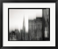 Framed Chrysler Building Motion Landscape #1
