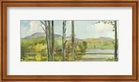 Framed Lake Study (left)
