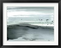 Framed Silver Silence: Dappled Shore