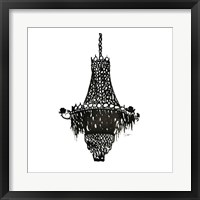 Framed Crystal Chandelier