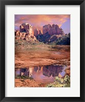 Framed Cathedral Rock Reflected - Sedona