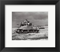 Framed American Sherman tank units, 1944
