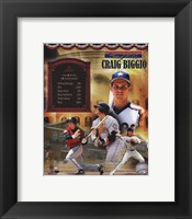 Framed Craig Biggio MLB Hall of Fame Legends Composite