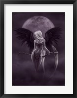 Framed Dark Moonlight Angel