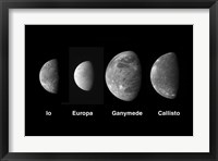 Framed Jupiter's Galilean Moons