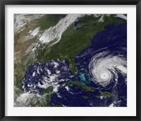 Framed Hurricane Earl