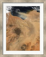 Framed Satellite View of a Dust Storm over Libya