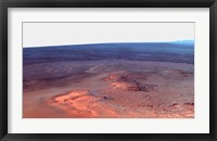 Framed False Color Mosaic of Greeley Haven on Mars