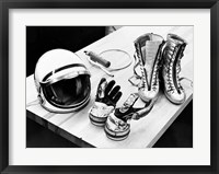 Framed Components of the Mercury Spacesuit Included Gloves, Boots and a Helmet