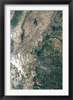 Framed Satellite Image of Flood Waters in Memphis, Tennesse