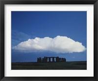 Framed Large Cloud over Stonehenge, Wiltshire, England