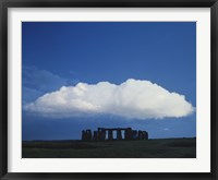 Framed Large Cloud over Stonehenge, Wiltshire, England