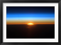 Framed Sunrise as Seen from the International Space Station