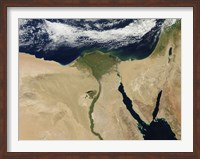Framed Satellite view of Cairo, Egypt, and the Valley of the Nile River