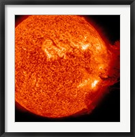 Framed M-2 solar Flare with Coronal Mass Ejection