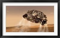 Framed Rover and Descent Stage for NASA's Mars Science Laboratory Spacecraft