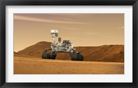 Framed Mars Science Laboratory Curiosity rover
