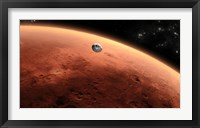 Framed Artist's concept of NASA's Mars Science Laboratory Spacecraft approaching Mars