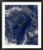 Framed Satellite view of Vanua Levu, the Second Largest Island of Fiji