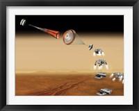 Framed Artist's Concept of a Proposed Mars sample Return Mission