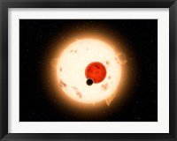 Framed Artist's concept of the Kepler-16 System