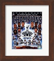 Framed New England Patriots Super Bowl XLIX Champions Composite