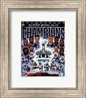 Framed New England Patriots Super Bowl XLIX Champions Composite