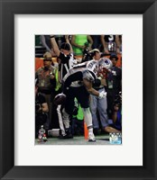 Framed Rob Gronkowski Touchdown Celebration Super Bowl XLIX