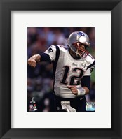 Framed Tom Brady Touchdown Celebration Super Bowl XLIX