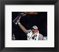 Framed Rob Gronkowski with the Vince Lombardi Trophy Super Bowl XLIX