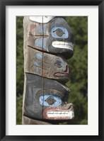 Framed Tseshaht Totem Poles, Port Alberni, British Columbia
