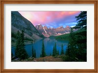Framed Lake Moraine at Dawn, Banff National Park, Alberta