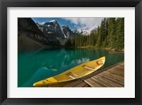 Framed Canoe along Moraine Lake, Banff National Park, Banff