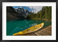 Framed Canoe along Moraine Lake, Banff National Park, Banff