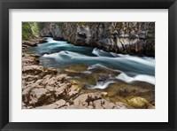 Framed Maligne River, Maligne Canyon, Jasper NP, Canada